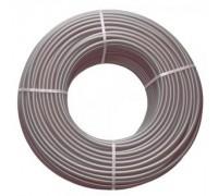 Труба сшитого полиэтилена  с кислородным барьером BRASSMEN FLEX GREY PE-XA 16Х2.2 ,1 м.(серая)
