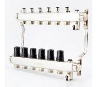 Коллектор для отопления BRASSMEN на 6 выходов. арт.A06-2014