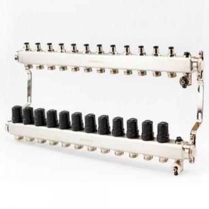 Коллектор для отопления BRASSMEN на 12 выходов. арт.A12-2014