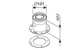 Buderus/Bosch вертикальное подключение к котлу арт.7736995075