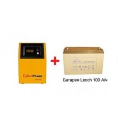 Комплект Cyber Power CPS 1000 E (инвертор+АКБ 100 А/ч)