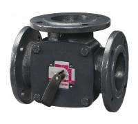 Клапан поворот. 3-ход. фланцевый 3F25 (DN25,Kvs18,PN6,КО-ОХ)