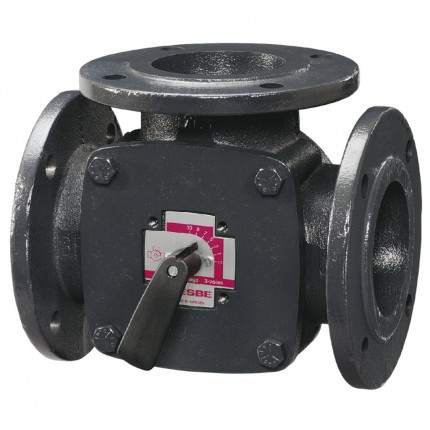 Клапан поворот. 3-ход. фланцевый 3F80 (DN80,Kvs150,PN6,КО-ОХ)