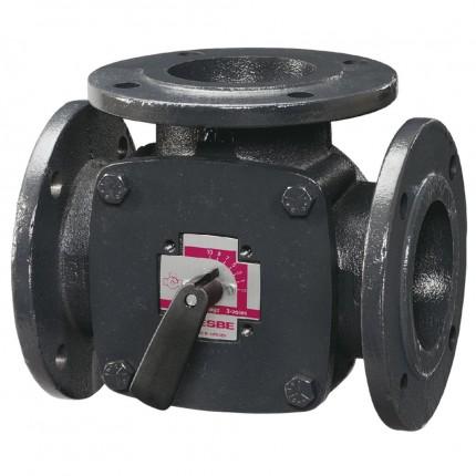 Клапан поворот. 3-ход. фланцевый 3F32 (DN32,Kvs28,PN6,КО-ОХ)