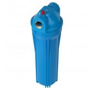 """Фильтр магистральный для холодной воды (непрозрачный синий корпус 10"""") 3/4"""" без картриджа"""