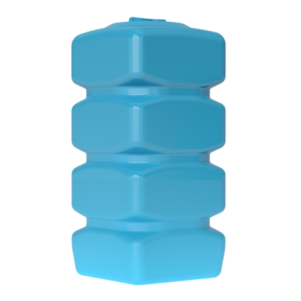 Бак для воды пластиковый Quadro W-750 (синий) с поплавком