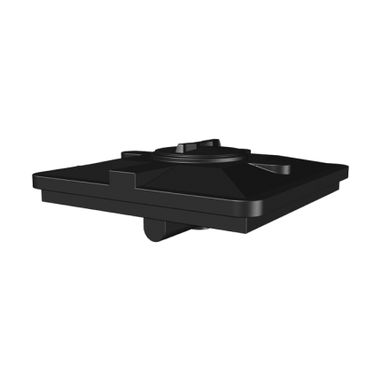 Бак для душа 120 литров (черный) (950х950х305)