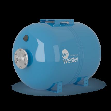 Бак мембранный для водоснабжения горизонтальный Wester Premium WAO100_нерж. контрфланец
