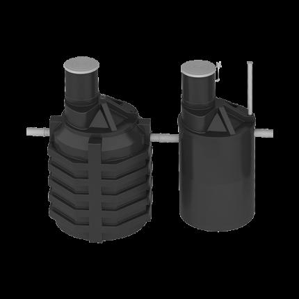 Система локальной очистки сточных вод ЛОС 8 (стандартное исполнение, 180 град.)